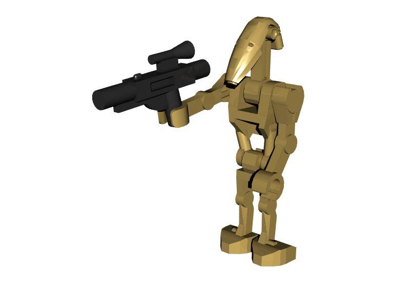 3D Lego Models  Star Wars Battle Droid downloads