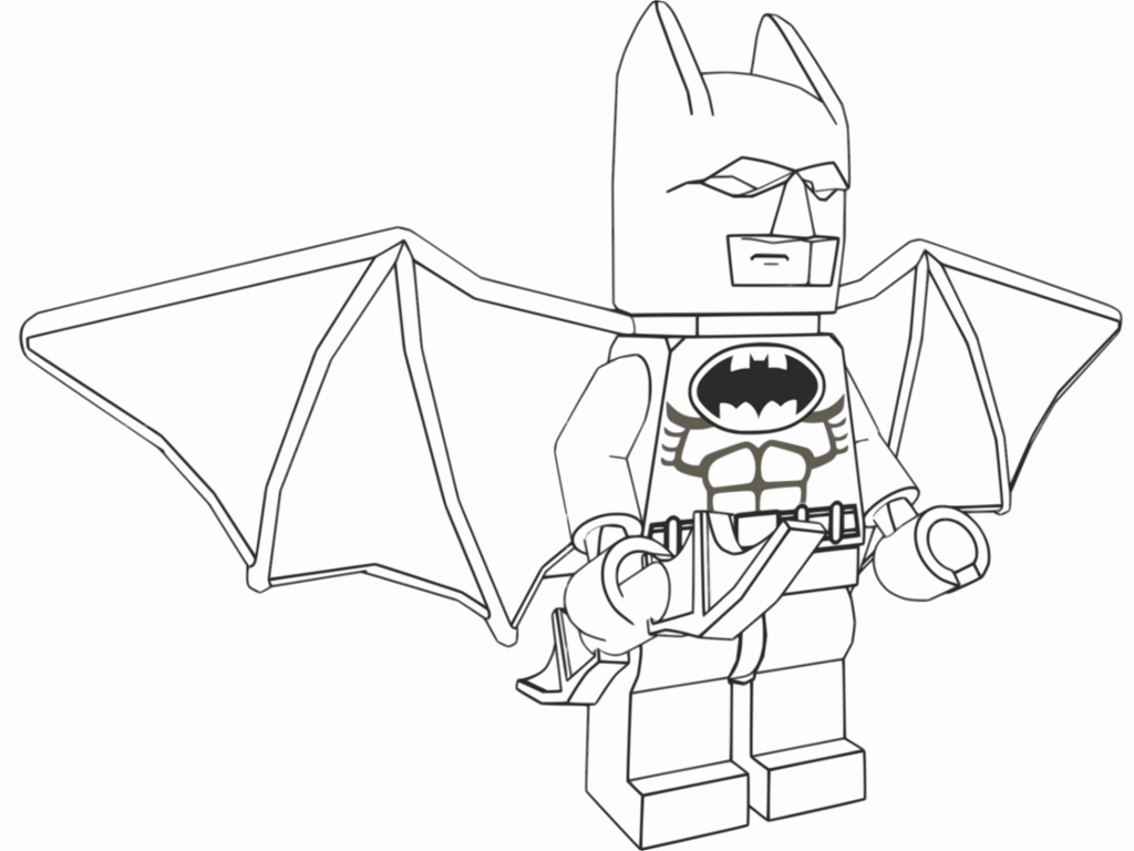 Printable Lego Colouring Pictures : D lego models colouring batman downloads