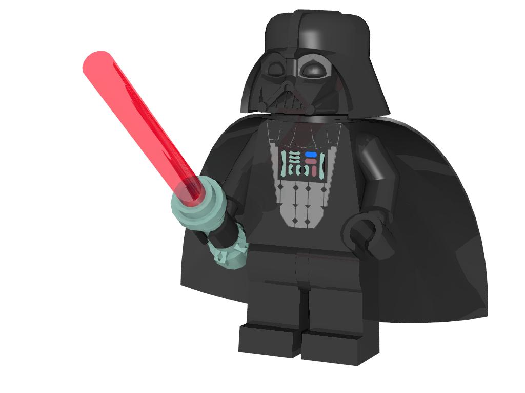 3d lego models darth vader minifigure downloads