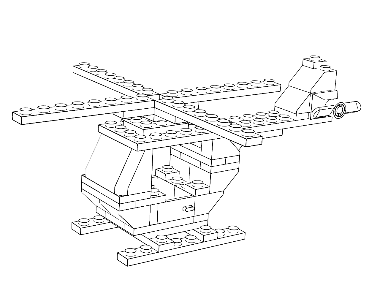 lego plane coloring pages - photo#4