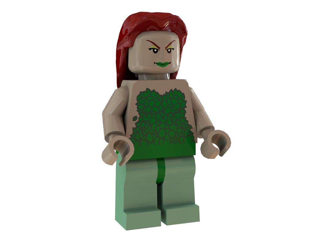 3d lego > models > poison ivy minifigure