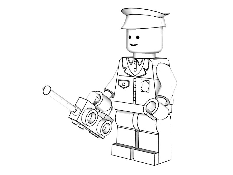 city police lego coloring pages - photo#8