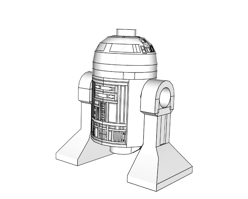 R2d2 Coloring Page Zoom